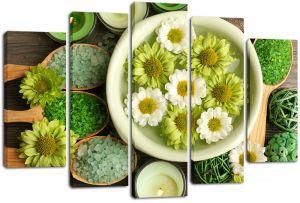Модульная картина Цветы в воде и соль