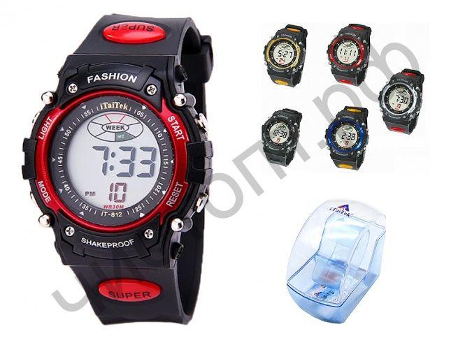 Часы наручные iTaiTek IT-812 подсветка ,таймер , будильник защита от дождя