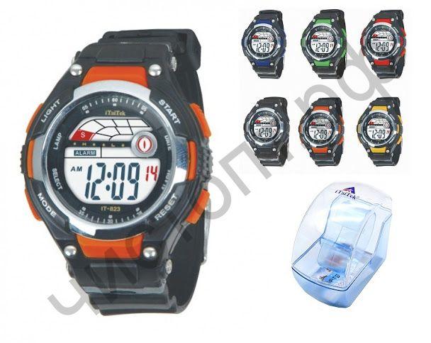Часы наручные iTaiTek IT-823 подсветка ,таймер , будильник защита от дождя