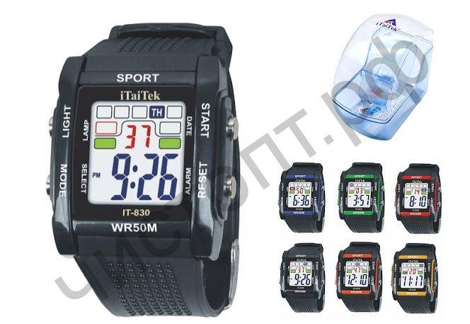 Часы наручные iTaiTek IT-830 подсветка ,таймер , будильник защита от дождя