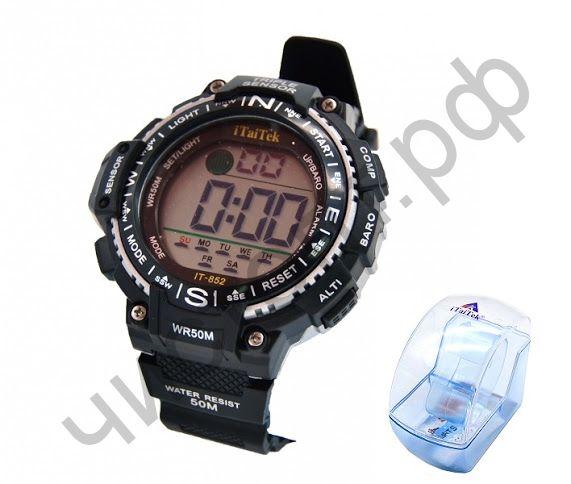 Часы наручные iTaiTek IT-852 подсветка ,таймер , будильник защита от дождя