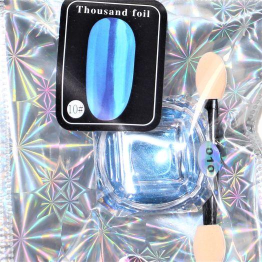 Втирка металлическая Глобал Фэшн thousand foil синяя