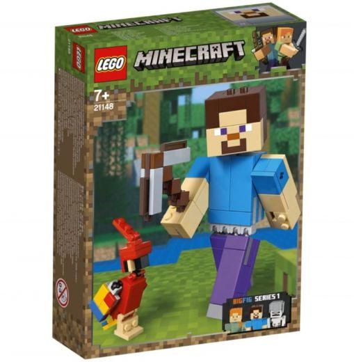 Большие фигурки Minecraft, Стив с попугаем. Конструктор ЛЕГО Майнкрафт 21148