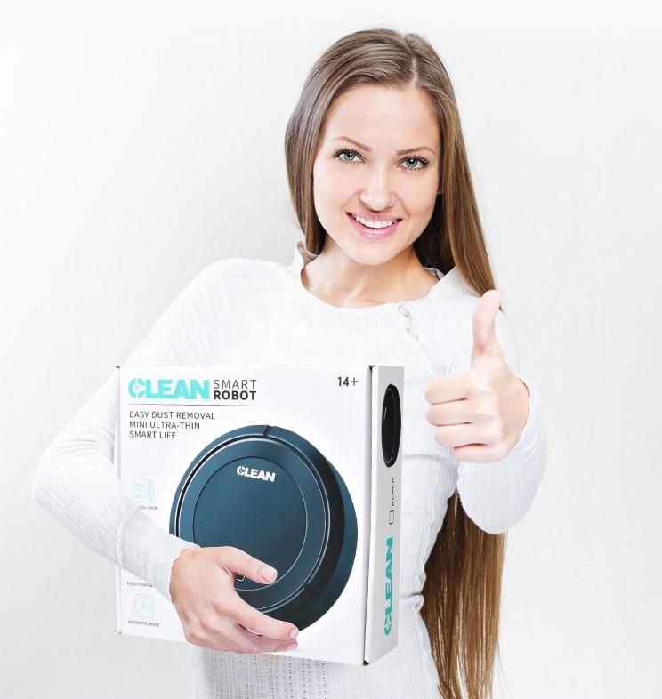 Робот-пылесос Clean Smart Robot черный