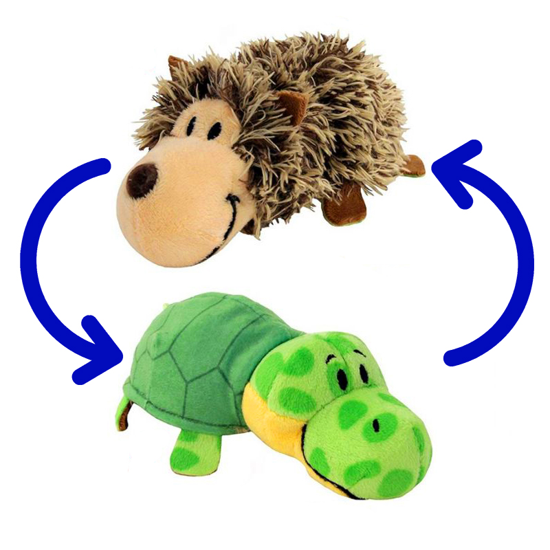 Игрушка-Перевертыш 2в1 Черепаха-Ёжик 15 см