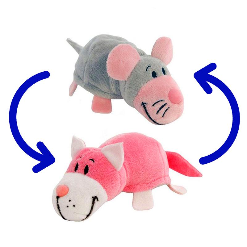 Игрушка-Перевертыш 2в1 Мышка-Кот 15 см