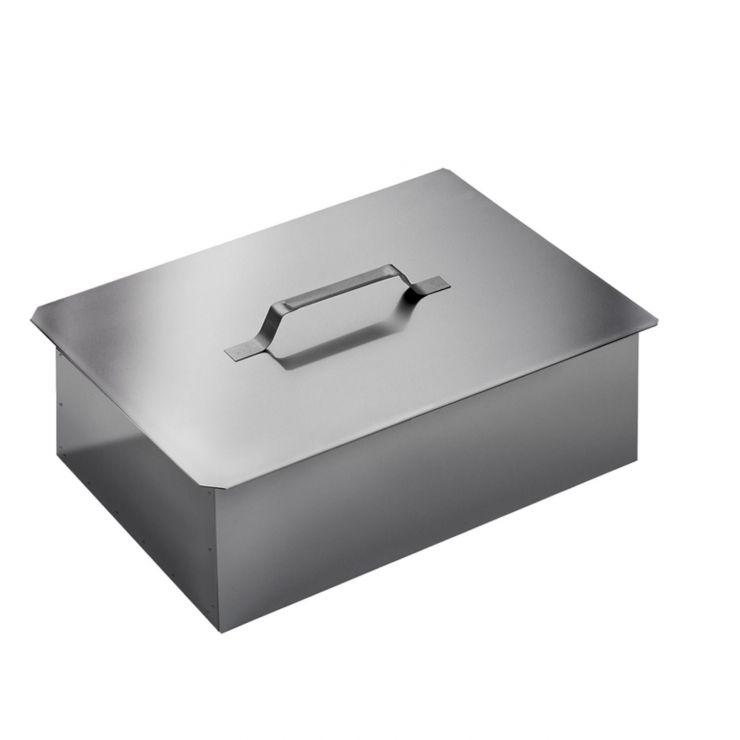Коптильня двухъярусная с поддоном (380х280х170) нерж.сталь 0,5мм