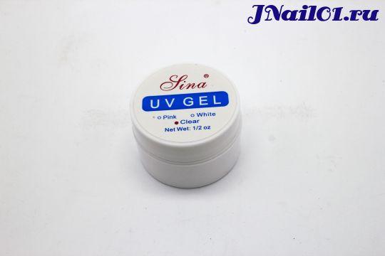 Прозрачный УФ-гель для наращивания ногтей Jina