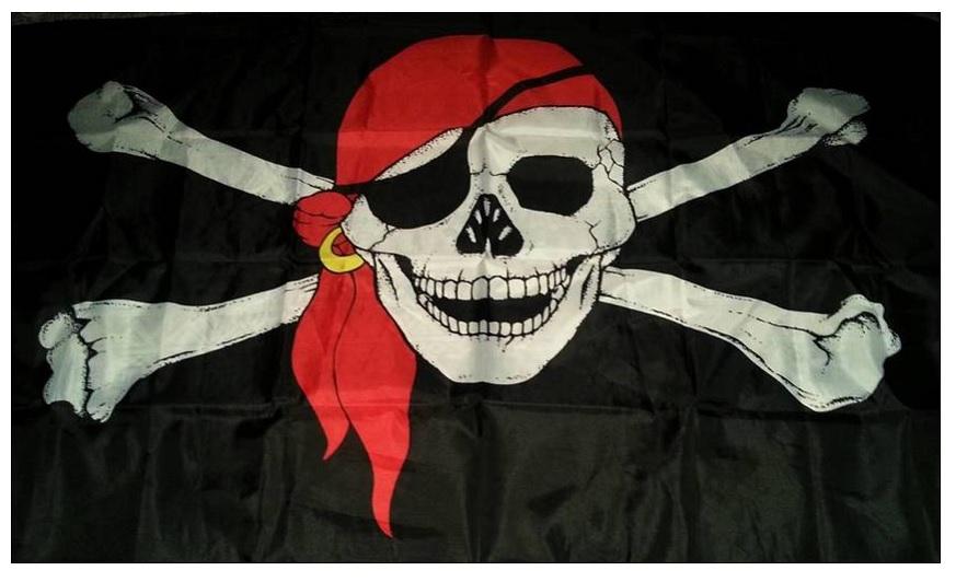 Флаг Пиратский 90х145см.