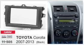 Carav 11-505 (2-DIN TOYOTA Corolla 07-13 black)