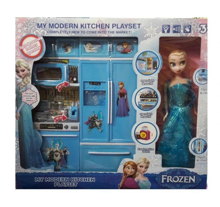 Набор кухня с холодильником и плитой FROZEN + Эльза