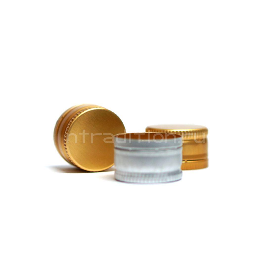 Колпачок алюминиевый Винт 28*18 (золото) 10 шт.