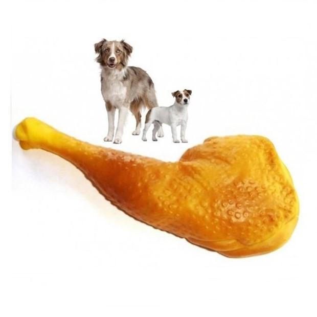 Игрушка - Пищалка Для Собак Куриная Ножка, 19 См