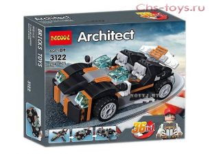 Конструктор Decool Architect 3122 Транспорт 36 в 1 (Аналог LEGO  Creator) 256 дет