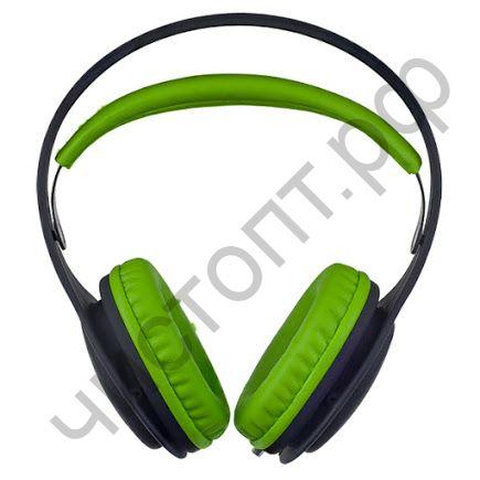 Наушники Perfeo ONTO черные/зеленые полноразмер