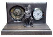 Настольные часы «Граница на замке». Пограничная служба. ГЕРБ СССР