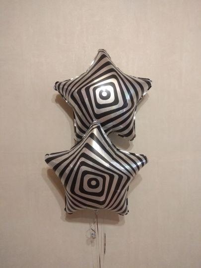 Звезда иллюзия шар фольгированный с гелием