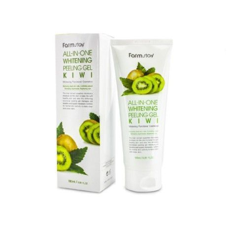 Пилинг гель для лица Farm Stay Whitening Peeling Gel Cream Kiwi 180 мл.