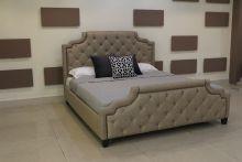 Кровать MARELLA B595 180*200 бежевый лен с/осн