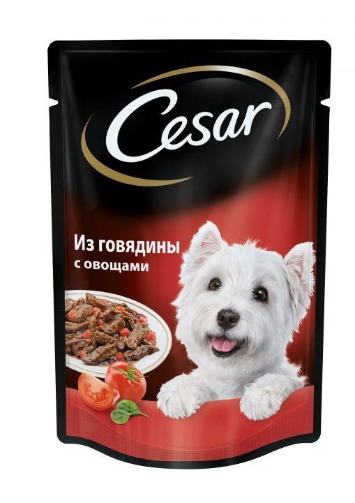 Сezar 100г говядина с овощами