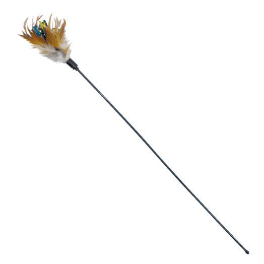 Дразнилка удочка Сибирская Кошка с перьями