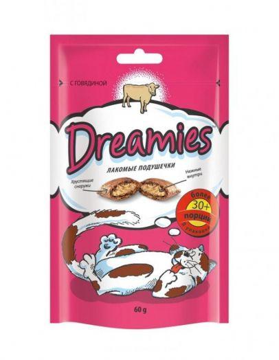 Dreamies 60г лакомые подушечки с говядиной