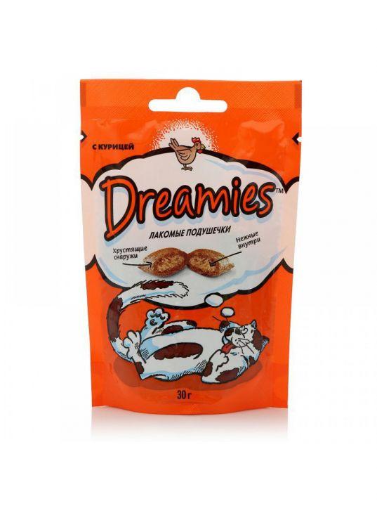 Dreamies 60г лакомые подушечки с курицей