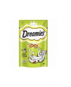 Dreamies 60г лакомые подушечки с уткой