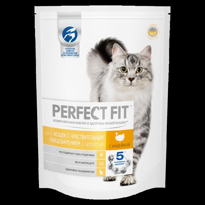 Перфект фит 190г д/чувствитиельных кошек с индейкой
