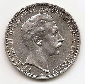 3 марки Германская империя (Пруссия)1910