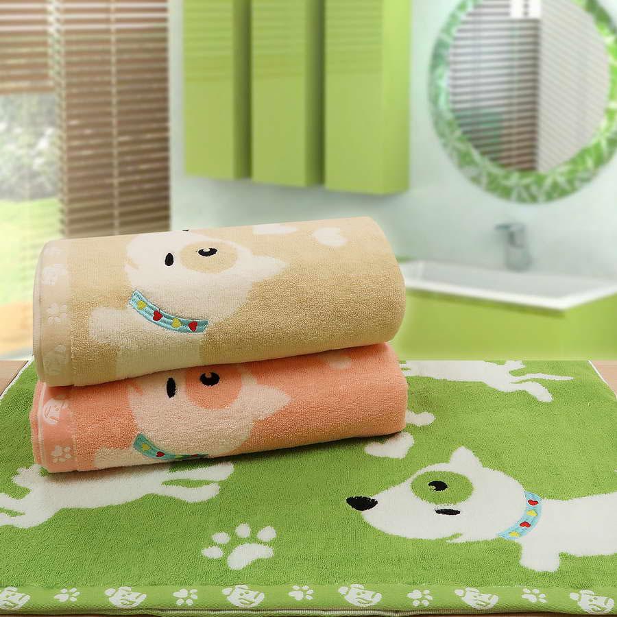 """Детское махровое полотенце """"Забавный щенок"""" рис.0781"""