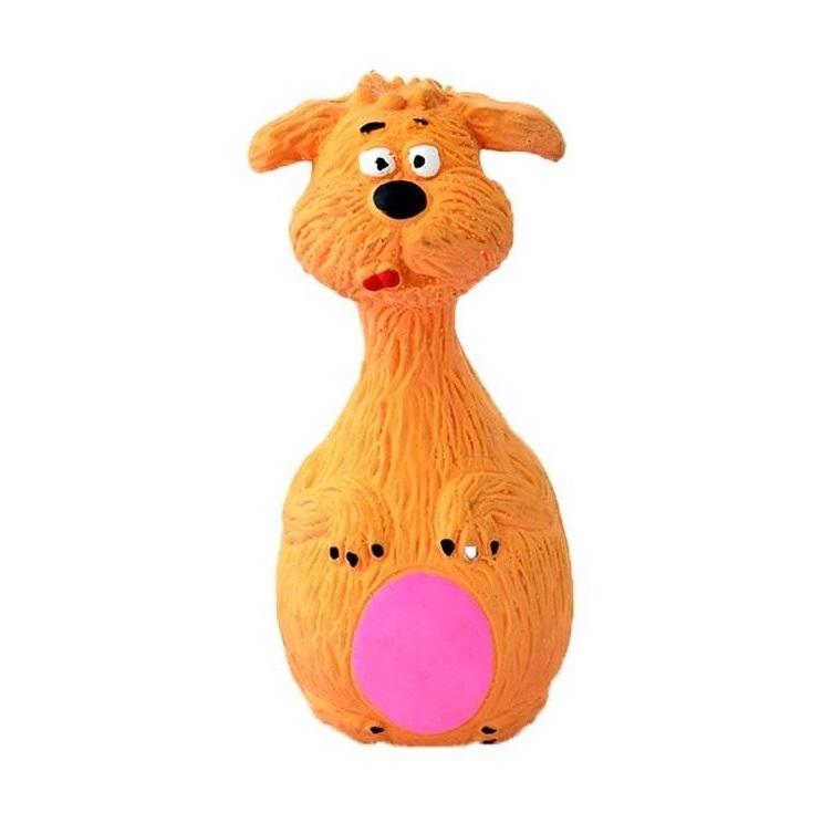 Виниловая Игрушка-Пищалка Для Собак Жёлтая Собака, 13.5 См