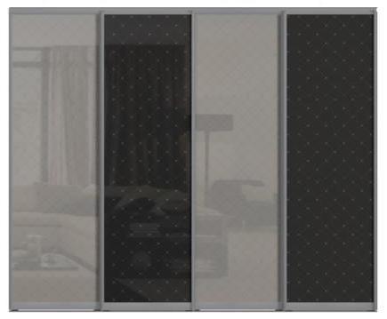Четырехдверные двери купе - со стеклом Командор