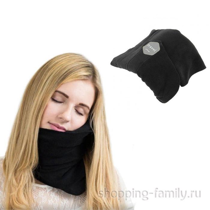 Ортопедический шарф - подушка Travel Pillow, черный