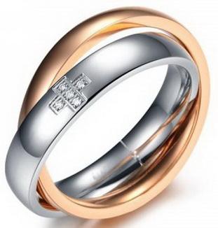 Двойное кольцо 07-370ST034w
