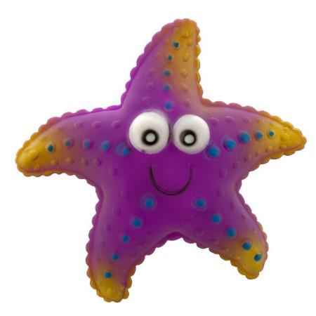 Виниловая Игрушка-Пищалка Для Собак Морская Звезда, 12 См, Цвет Фиолетовый