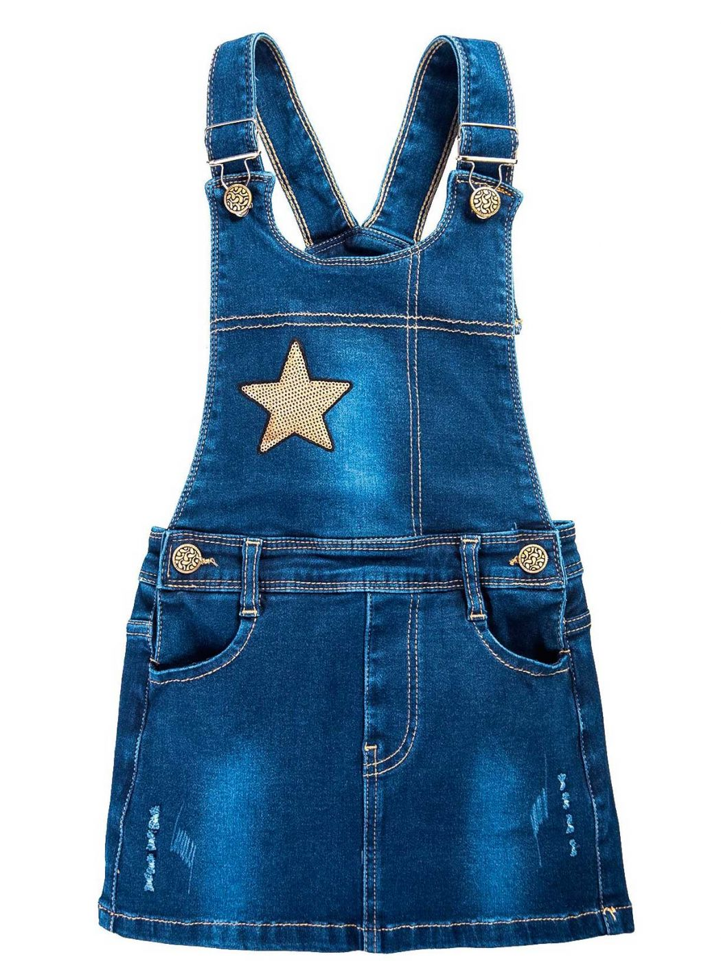 Сарафан джинсовый для девочек 3-7 лет Bonito BK737C1