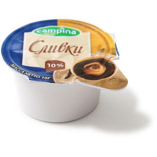 Сливки Кампина для кофе 10% 10*10г