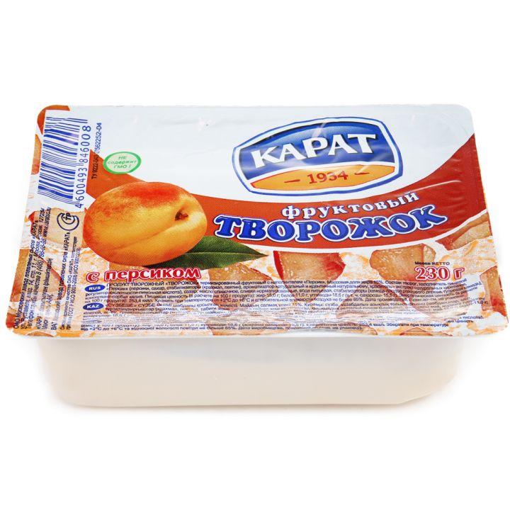 Творожок Карат персик 230г Москва