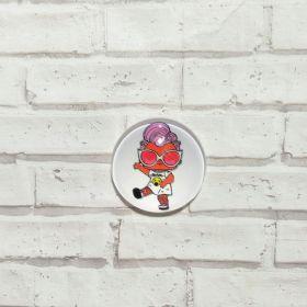 кабошон LOL-8  диаметр 25 мм материал стекло