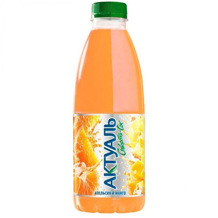 Напиток Актуаль на сыворотке апельсин/манго 930г Юнимилк