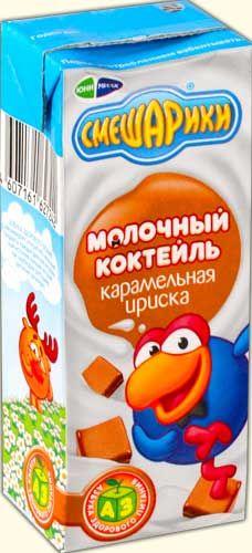 Коктейль Смешарики карамельная ириска 2,5% 200г Юнимилк