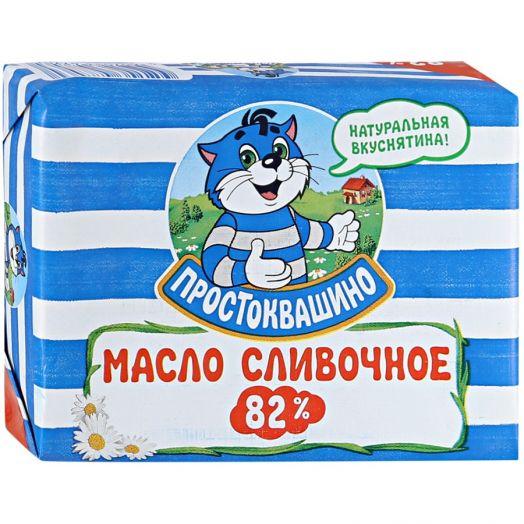 Масло Простоквашино сладкосливочное 82% 180г Юнимилк
