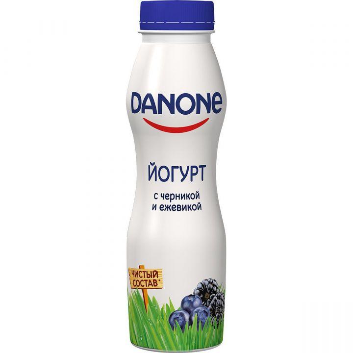 Йогурт Данон питьевой черника/ежевика 270г Данон Индустрия