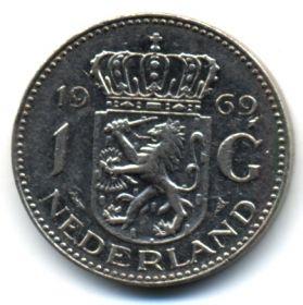 Нидерланды 1 гульден 1969