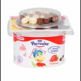 Йогурт Растишка густой клубника с шокол.драже 115г Данон Индустрия