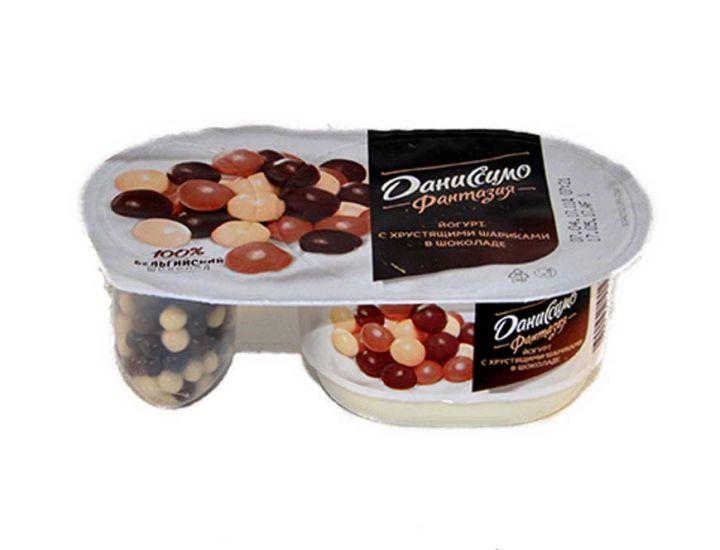 Йогурт Даниссимо Фантазия хруст/шарики в шоколаде 105 г Данон Индустрия