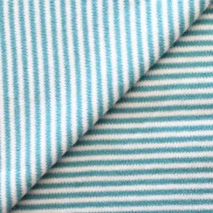 Лоскут трикотажной ткани Бирюзовая полоска