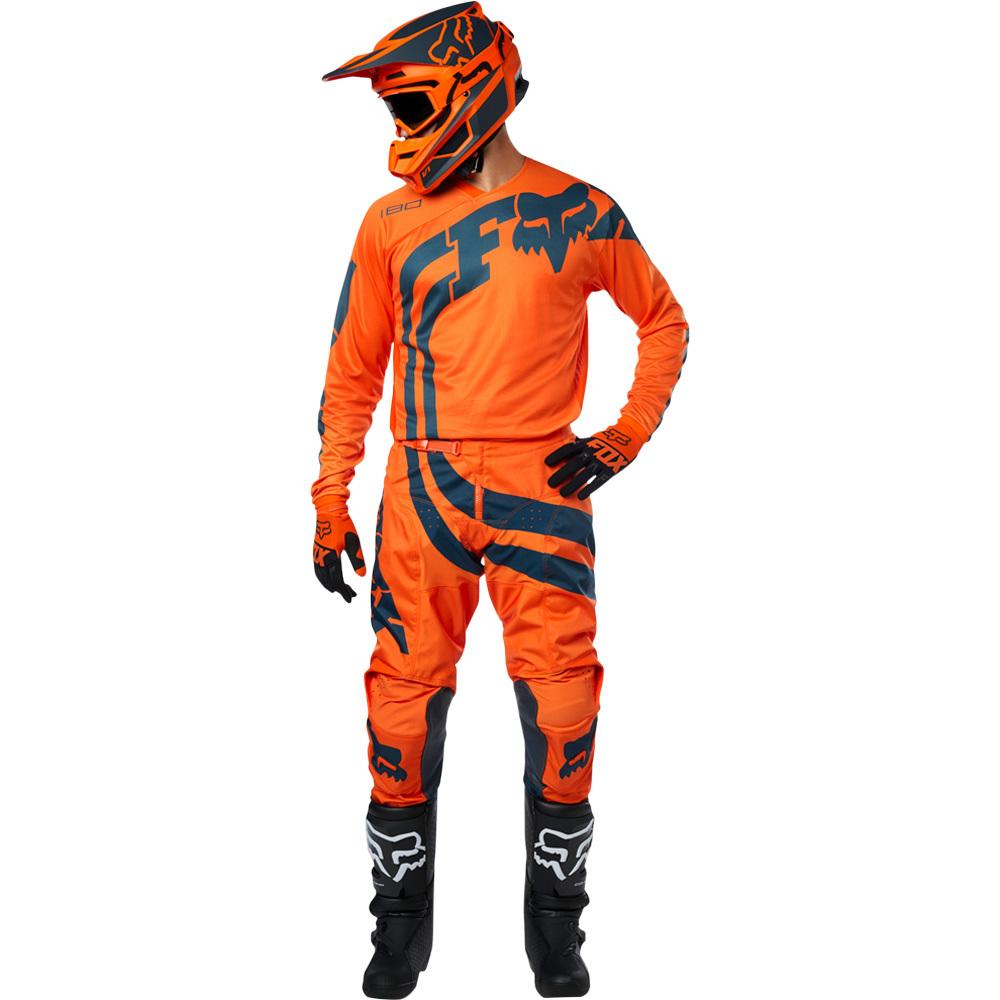 Fox - 2019 180 Youth Cota Orange комплект подростковый джерси и штаны, оранжевые