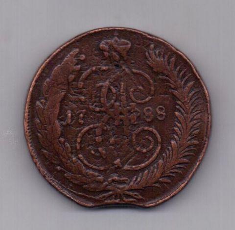 5 копеек  1788 года ММ многократный перечекан